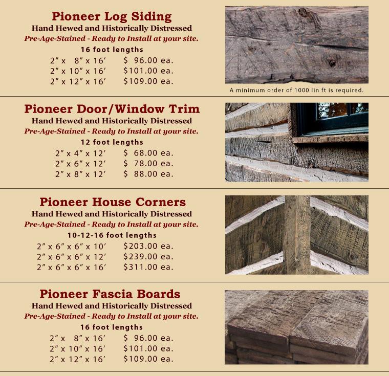 Competitive siding prices for E log siding