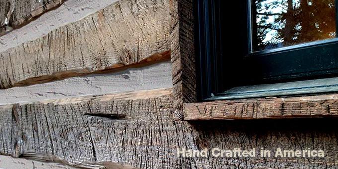 Hand Hewn Distressed Log Cabin Siding